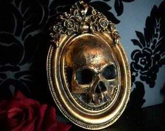 Macabre Mini Wall Art Skull Frame