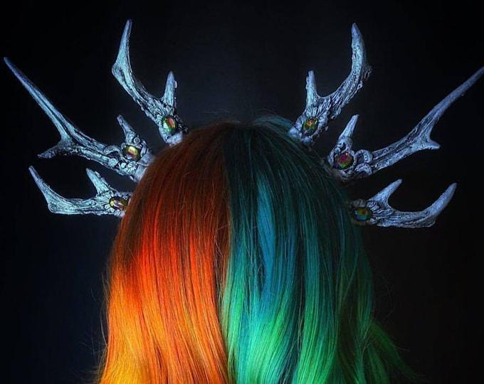 Crystal Triple Antler Headband