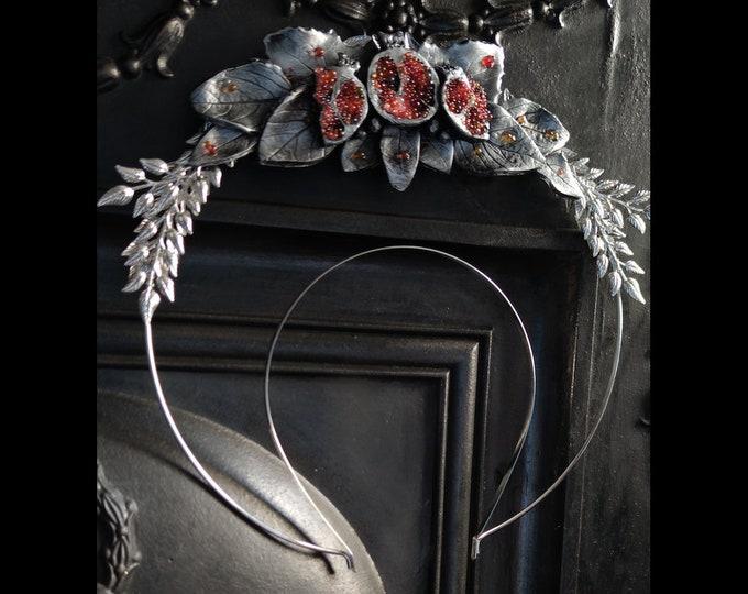 6 - Silver Persephone Pomegranate Halo - Ready Made