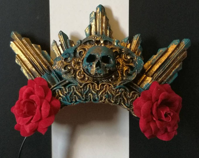 OOAK - Catacomb Crypt Rose Halo - READY MADE