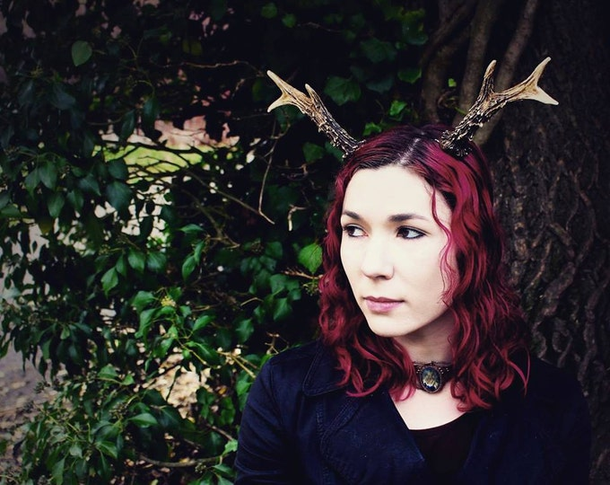 Large Deer Faun Antlers headband