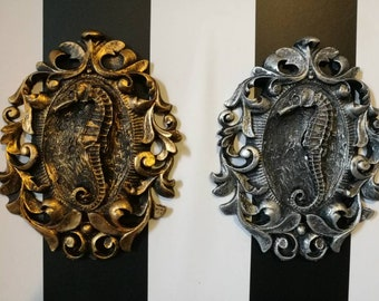 Mini Wall Art - Seahorse Filigree Frame