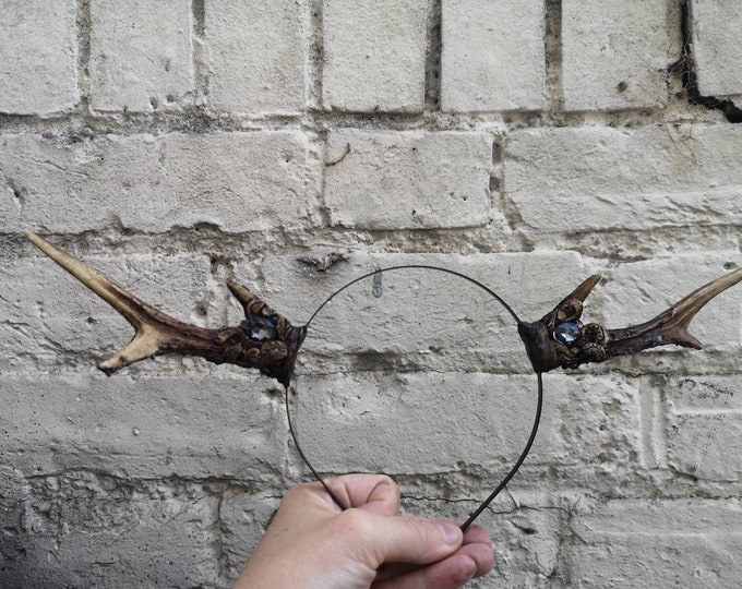 Natural tone Crystal Deer Antlers Medium - Made to Order