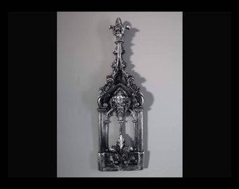 Silver Nouveau Abbey Wall Art