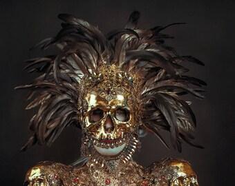 Golden Skull Mask - Ready Made