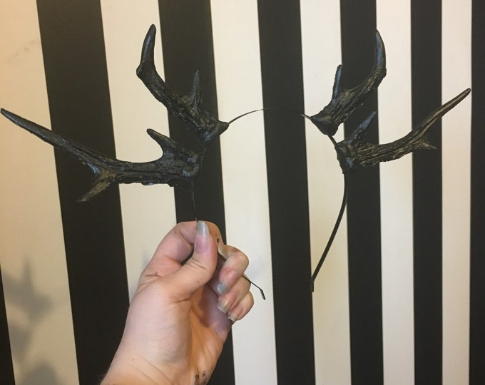 Black Double Antler - Set 2 - READY MADE