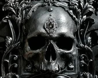 Skull Wall Plaque PEWTER