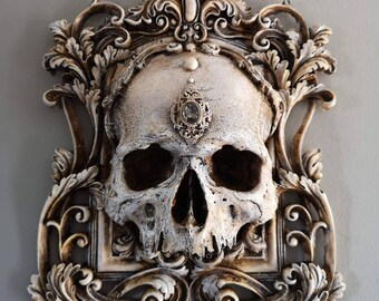 Skull Wall Plaque BONE