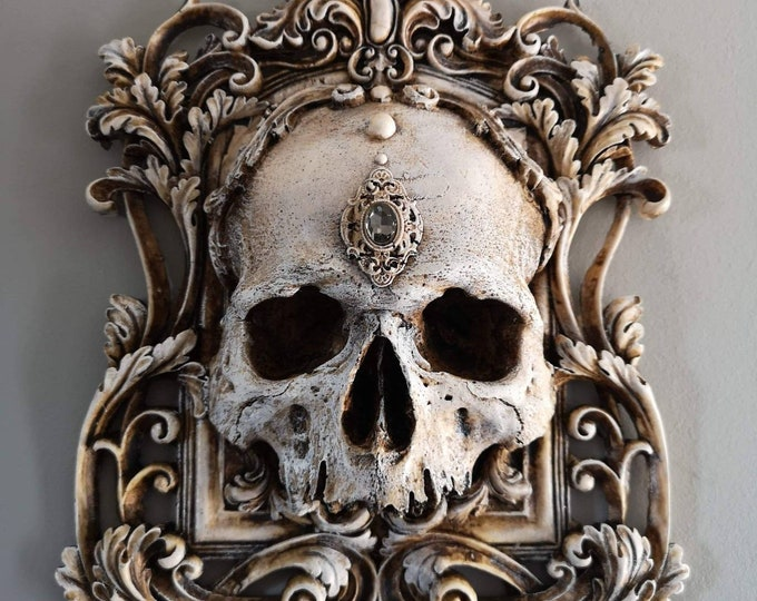 Skull Wall Plaque BONE