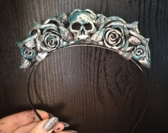 OOAK - Silver Patina Aurora Crown