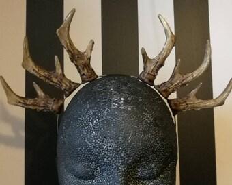 Natural Triple Antler Headband Set 2 - Made To Order