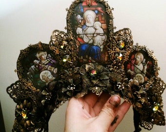 Cathedral Stained Glass Headdress - READY MADE
