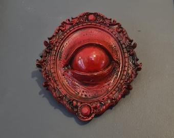 Halloween - Seer Third Eye Wall Art - In Blood Red