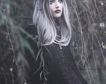 Silver Succubus Faux Horn Headdress