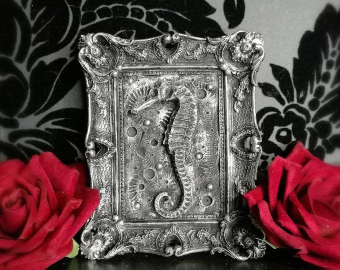 Macabre Mini Wall Art Seahorse Frame