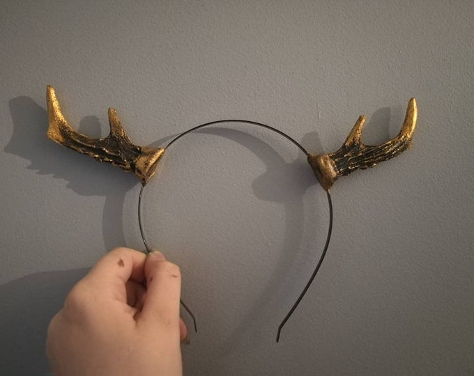 Gold and Black Mini Deer antlers