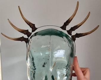 Triple Muntjac Antler Headband - Made To Order