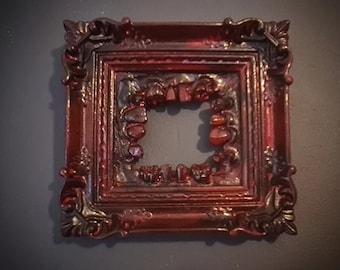 Halloween - Teeth Frame In Blood Red