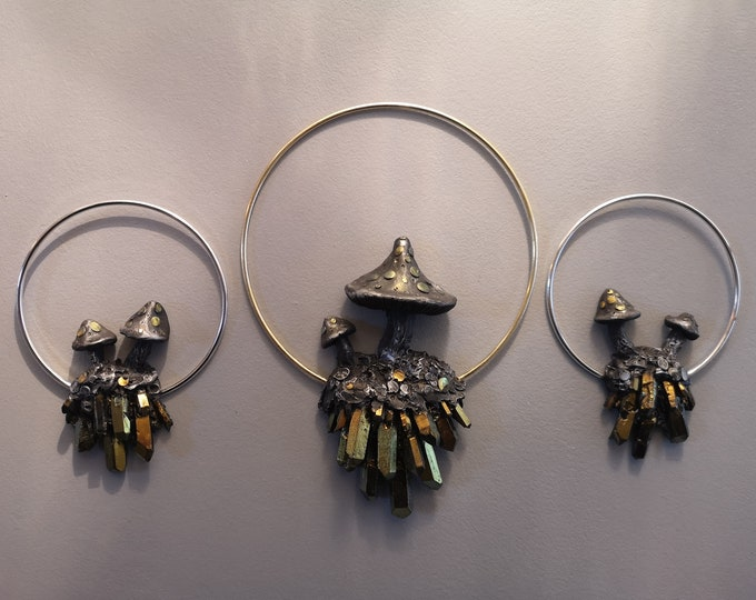 Mushroom Ring Set of Three