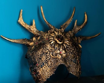 Horned Crown Blind Mask READY MADE