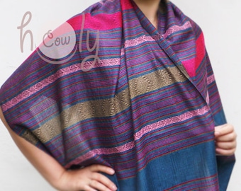 Turquoise Cotton Scarf, Turquoise Silk Scarf, Turquoise Silk Shawl, Cotton Scarf, Cotton Shawl, Handwoven Scarf, Boho Scarf, Hippie Scarf