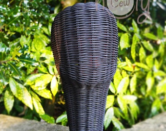 Black Display Head, Hat Stand, Black Head Display, Hat Display, Handmade Rattan Mannequin Head, Hat Display Stand, Wicker Head, Photo Prop