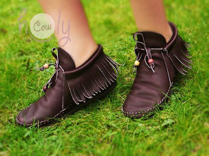 Hand Stitched Marrón cuero Zapatos Zapatos Zapatos Mujer Zapatos Marrón cuero Zapatos cuero Zapatos Mujer  botas  Marrón  botas  Inca Zapatos Fringe Zapatos b3eca1