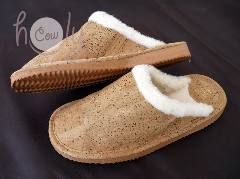 Eco Friendly slippers Vegan Slippers Handmade Eco Friendly Womens Slippers Made From Cork Vegan Slippers Womens Slippers Cork Slippers