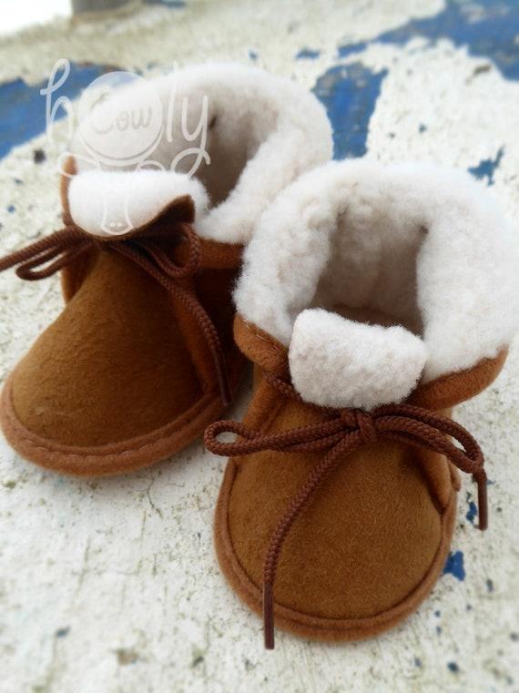 Handmade Sheepskin Baby Boots Baby