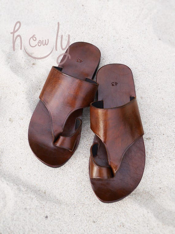 b8b011d8202e Handmade Leather Sandals Brown Leather Sandals Womens