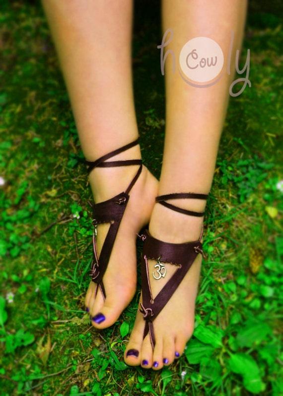 Sandalias hechas a mano de pies descalzos sandalias de cuero  4da7016d8874