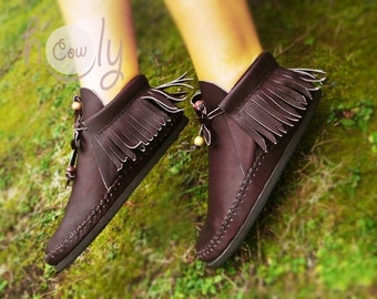 Brown Leather Moccasins, Moccasins Women, Womens Shoes, Moccasins, Mens Moccasins, Moccasins Men, Womens Boots, Leather Moccasins Women