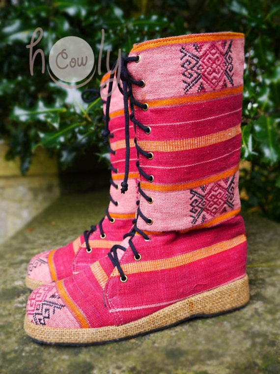 Boots Tribal Vegan Boots Boots Tribal Pink Vegan Gypsy Pink Boho Boots Boots Boots Boots Women's Boots Hippie Boots Women's Ethnic YXg4w