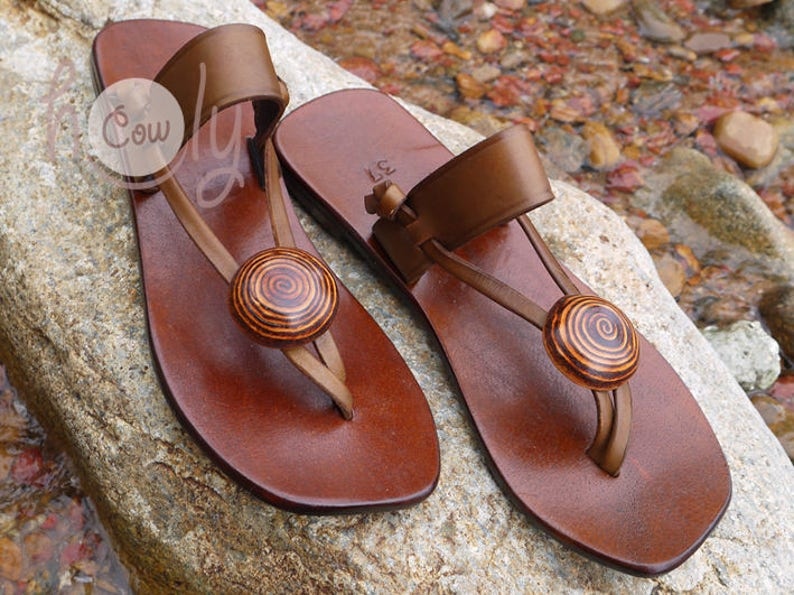 c7deb1de8 Handmade Leather Sandals Brown Leather Sandals Womens
