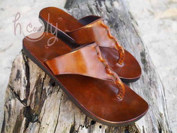 cf9592c17f49 Handmade Leather Sandals Brown Leather Sandals Womens