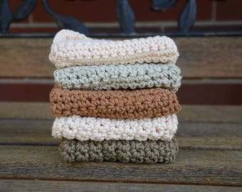 Crochet Organic Vegan Cotton Dishcloth/Cleaning Cloths