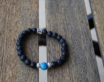Mens Libra Zodiac Mala Bracelet / Hippie Bracelet / Yoga Bracelet