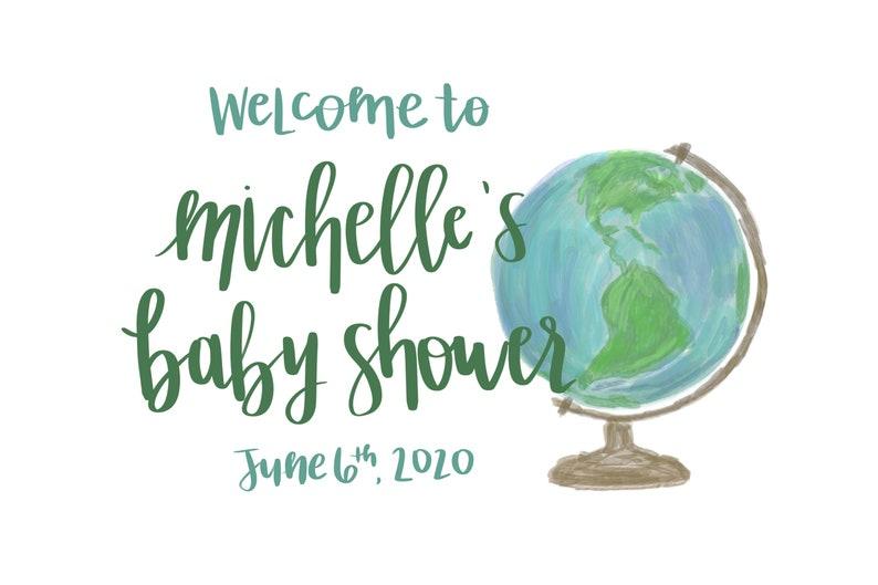 Travel Theme Baby Shower: Printables Bundle 7 items image 0