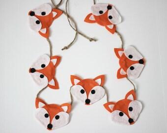 Woodland Fox Felt Garland
