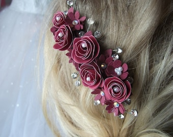 Paper Quilled Floral Hair Clip