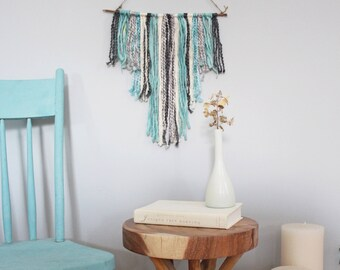 Tapestry Wall Hanging Custom, Tapestry Wall Hanging Small Yarn Wall Tapestry, Wool Wall Hanging Tapestry Blue, Modern Wall Tapestry