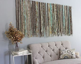 large wall hanging tapestry boho decor living room yarn wall tapestry tapestry wall hanging neutral boho wall hanging decor 5 ft x 3 ft - Large Wall Hangings