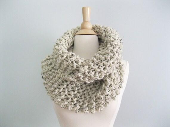 9656bcc1c0b36 Claire Knit Scarf Chunky Knit Infinity Scarf Sassenach