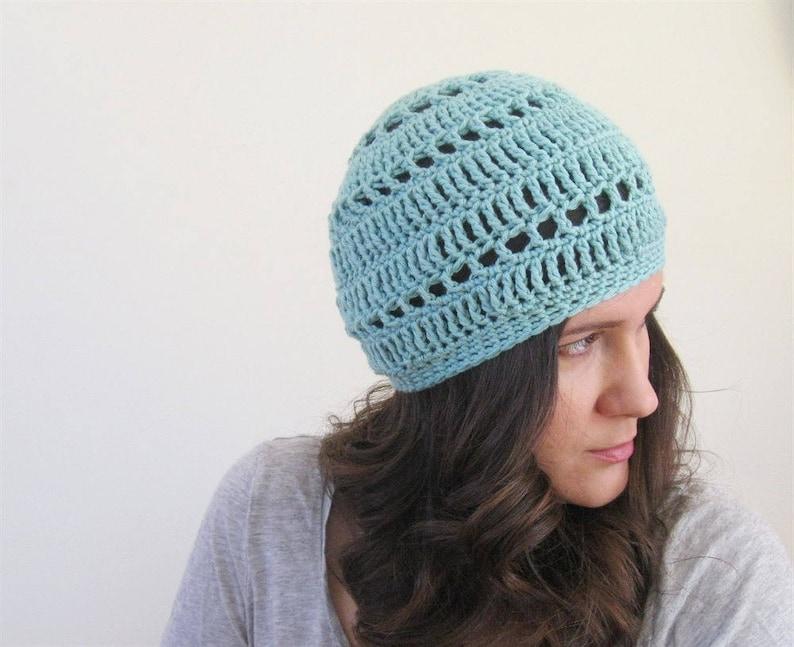2b44e893 Cotton Summer Beanie Cotton Summer Beret Hat Summer Knit | Etsy