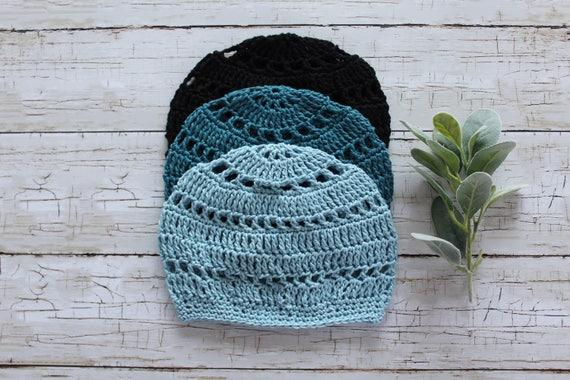 Baumwoll Mütze Leichte Mütze Boho Häkeln Hut Frühling Etsy
