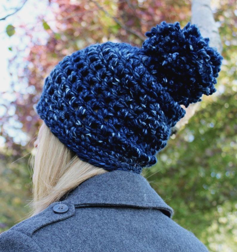 2aa314be66f Knit Pom Pom Hat Chunky Knit Hat Chunky Beanie Women Wool