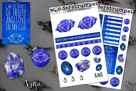 Chakra Crystals BuJo planner stickers