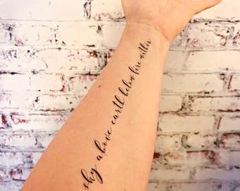 Temporary Tattoo Elemental Element Symbols Etsy