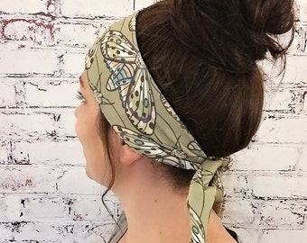Gypsy Moth - Green - Eco Friendly Yoga Headband