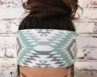 Navajo - Faded Jade - Eco Friendly Yoga Headband